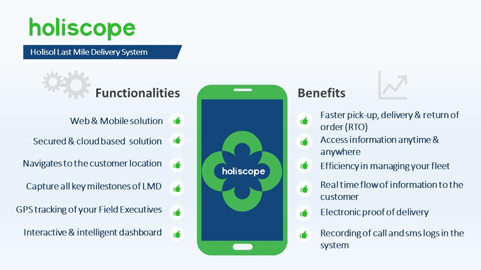 Holiscope, our mobile-based last mile delivery solution