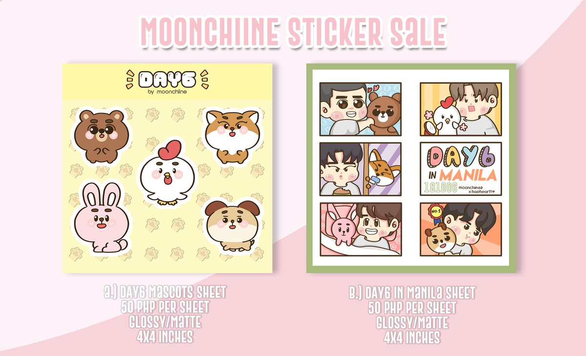 RTs are appreciated ଘ(੭´ ꒫`)੭̸ ❣  moonchiine's first sticker sale pls DM me for orders 💖 open for PH only 🇵🇭  #day6 #day6fanart