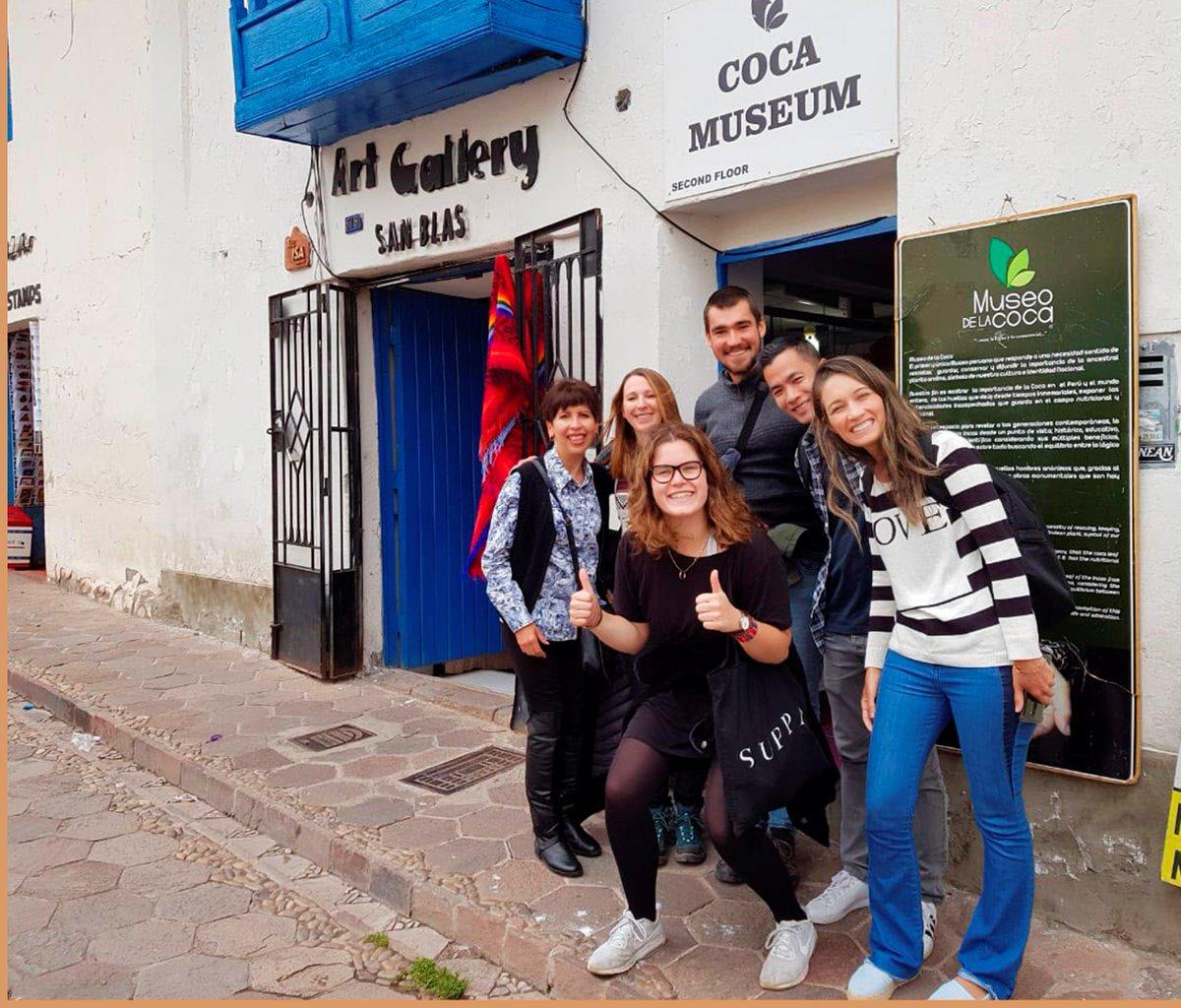 Visit the coca museum with your #Spanish teacher in #Cusco
