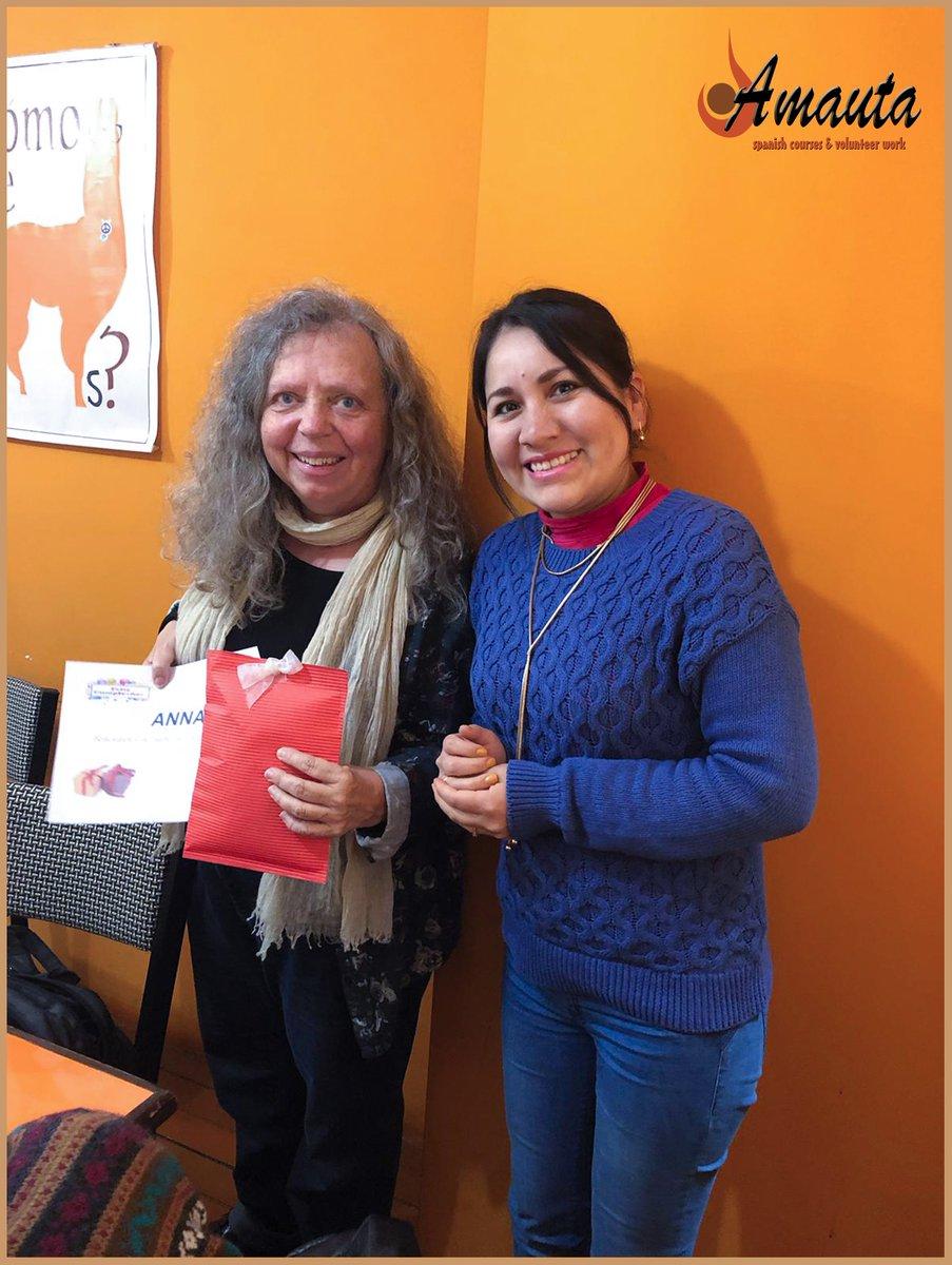 Happy birthday to Anna!  Feliz cumple!  #learnspanish #spanishclasses #Cusco #peru #Amautaspanishschool