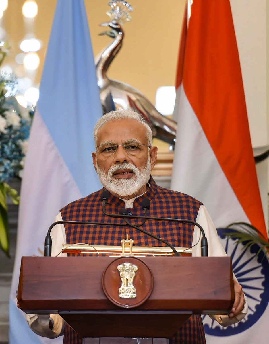PM Narendra Modi says #PulwamaTerrorAttack shows that the time for talks is over and now the world has to join hands to deal with terrorism and those who are supporting it.