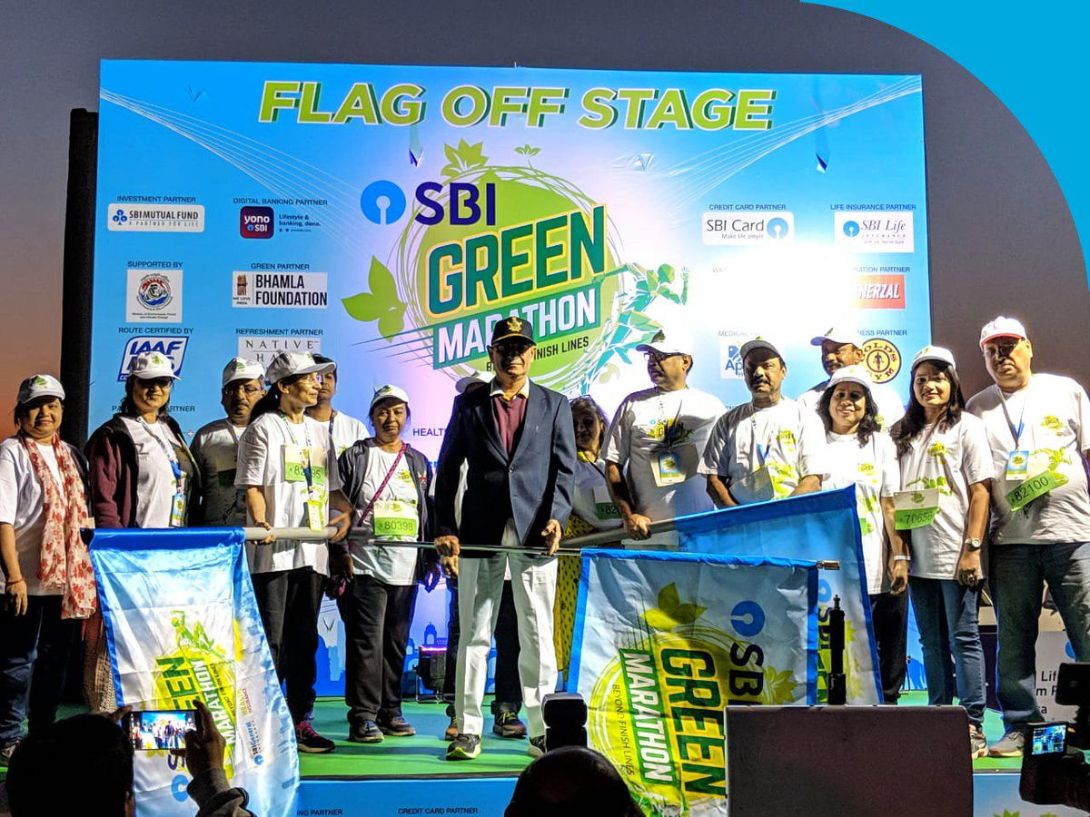 Thank you to all the eco warriors of Ahmedabad who came out in large numbers at the #SBIGreenMarathon. We are grateful to all the runners for taking a step closer to making India green again.