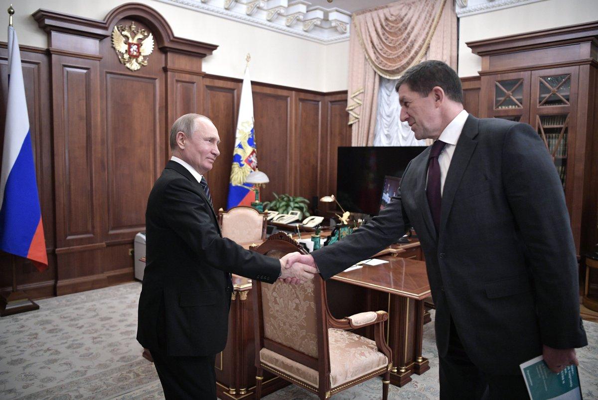 Президент встретился с президентом компании «Ростелеком» М.Осеевским: итоги работы компании за 2018 год, планы развития на ближайшие пять лет  https://t.co/JzB3v1hqrC