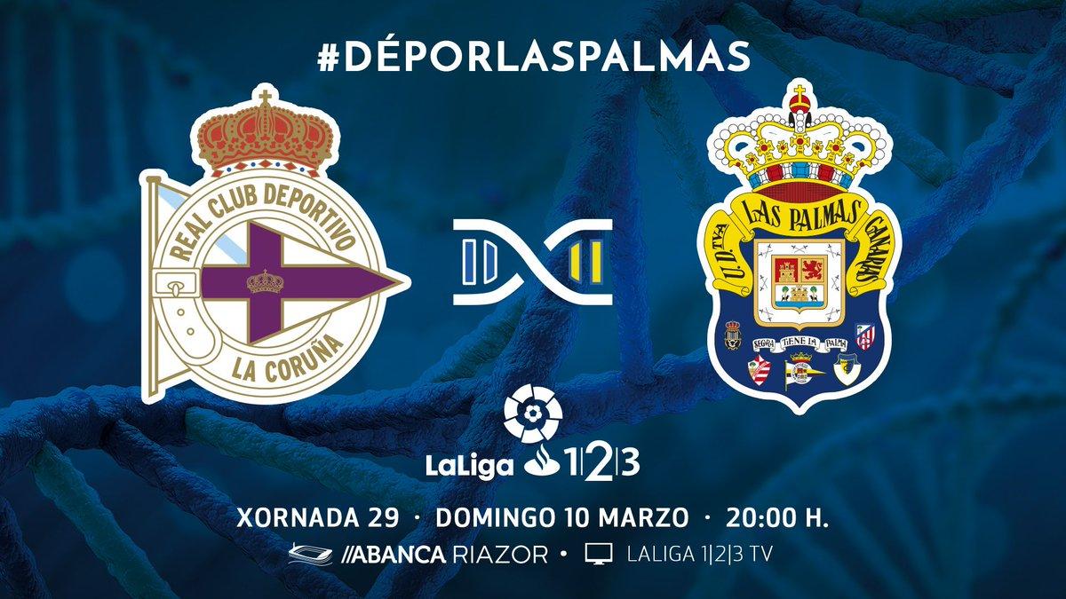 NOVO HORARIO | #DéporLasPalmas da 29ª xornada de @LaLiga, o domingo 10 de marzo ás 20:00 h. en #ABANCARIAZOR #vamosDÉPORvamos!