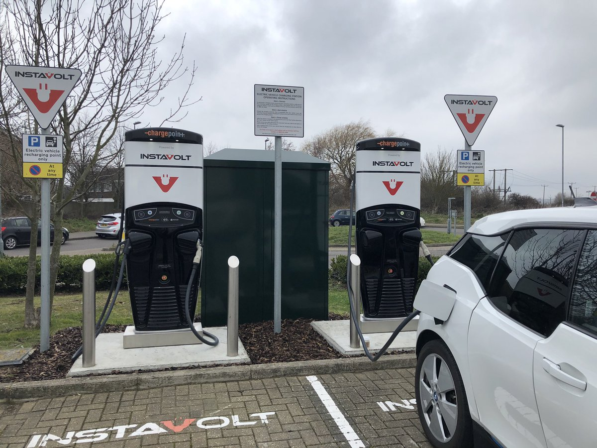 My first visit to an @InstaVoltUK charger!  Contactless, 35p a KW. Simple, easy fast thank you @Bannatyne Eastbourne.   Vid here of process, amazing.  https://twitter.com/teslasonic/status/1097462012194549760?s=21 …