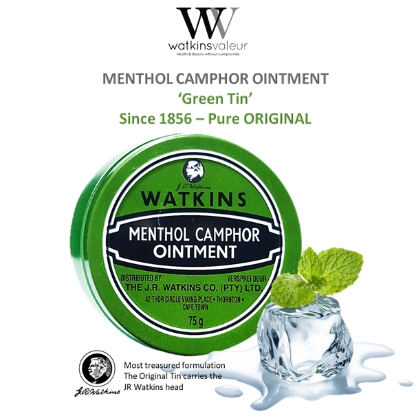 The Original Green Tin - Menthol Camphor Ointment 75g SPECIAL PRICE - BEFORE PRICE INCREASE 1 March 2019🚨🏁❗️ BUY NOW for only:  R59| N$63 | P63 SAVE NOW R16 |N$22|P22 #health #iamwatkins #menthol  ☎️ 021 5322640 💌 recruiting@watkinsvaleur.co.za