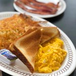 Image for the Tweet beginning: Mornings are tough. Waffle House
