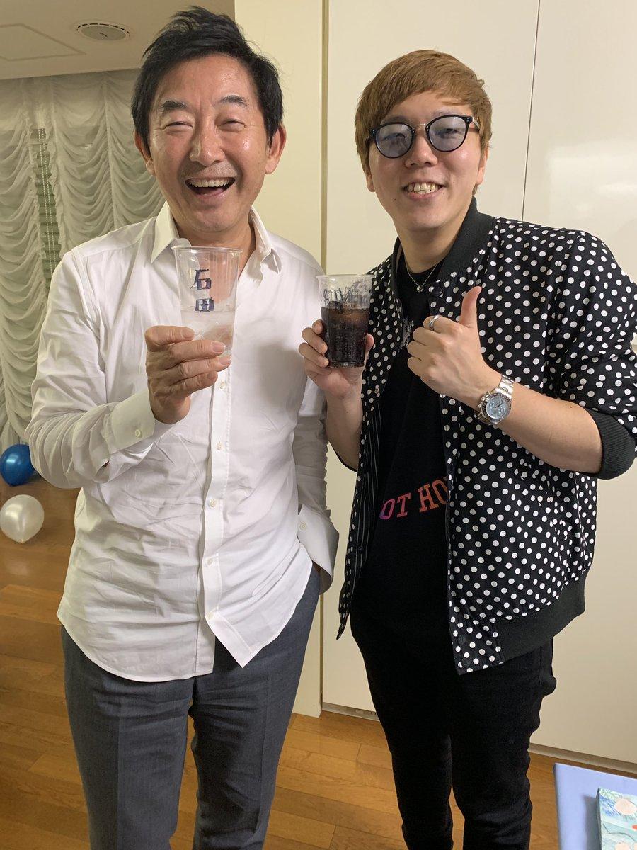 石田純一さんとお酒飲みました🤓🍻 薬丸さんのバースデーパーティーにて