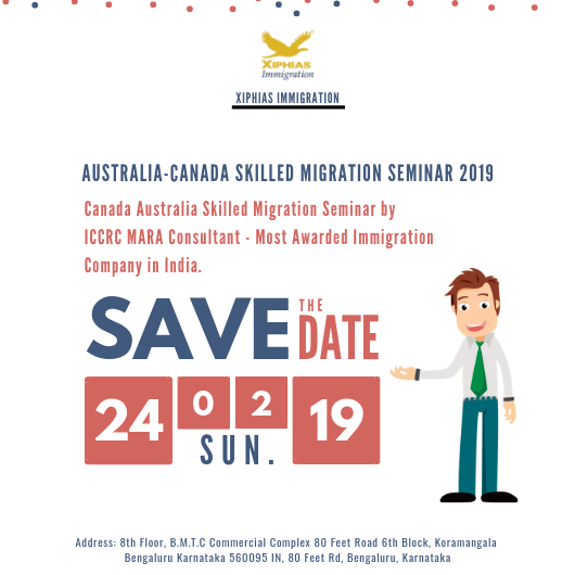 regarding Abroad immigration.   Visit: https://www.xiphiasimmigration.com/landing/?fbclid=IwAR1fmusxydn8vebZtEc18jCcvkKpdIZSincvTyBxoj3CCng97wJaT4Zws88…   #Australia #Canada #Skilled #Migration #Seminar #Job #Abroad #visa #immigration #Bangalore
