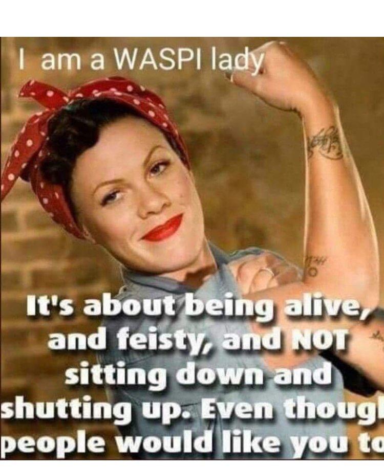 #1950sbornwomen #1950s #notgoingaway #deedsnotwords #MondayMotivation   https://www.facebook.com/waspicampaign2018/…