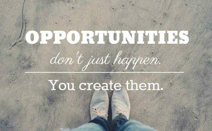 """Opportunities don't happen, you create them."" – Chris Grosser #MondayMotivation #MondayMorning #MondayMood #mondaythoughts"
