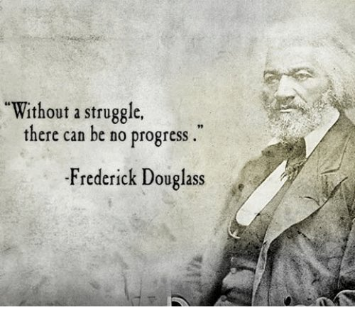 Day 1499 #JMMiracleMorning #MiracleMorning Today's Lesson : Without A Struggle, There Can Be No Progress  #BHM   #BlackHistoryMonth2019  #BlackHistory #BlackHistoryMonth        