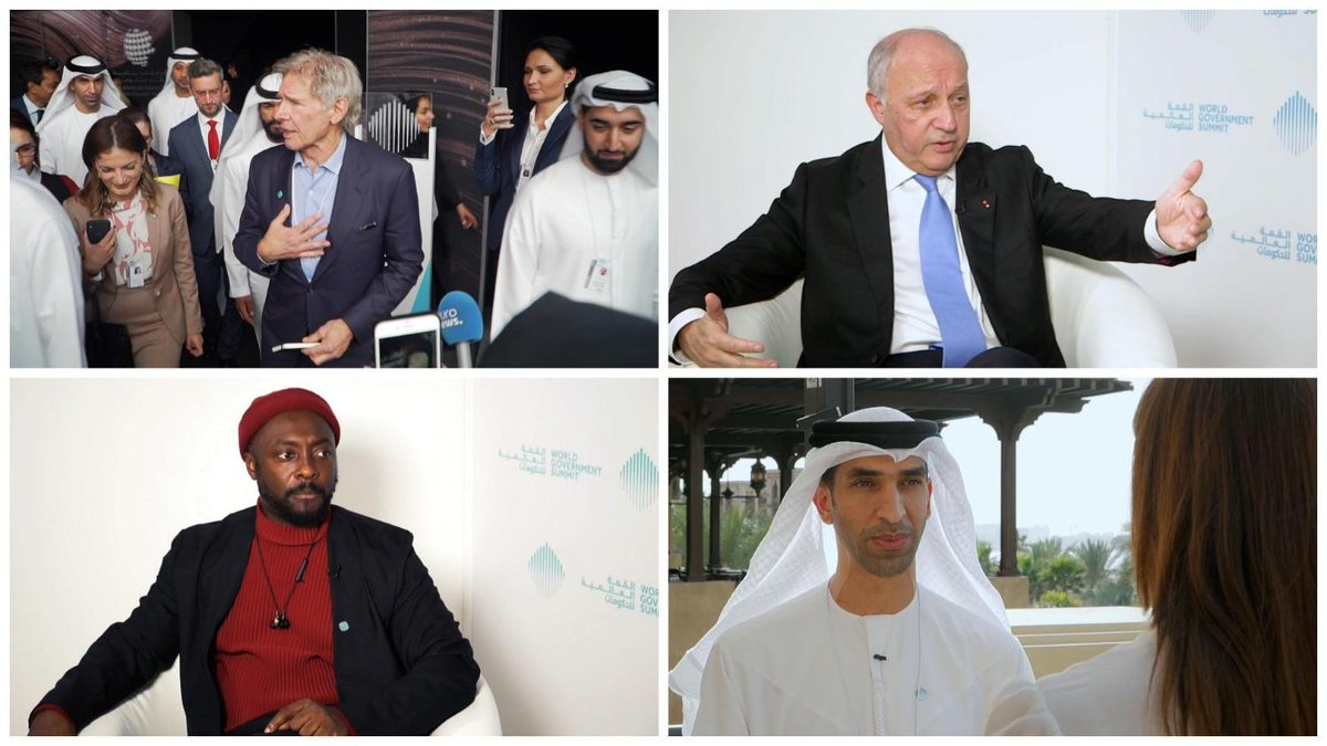 INSPIRE MIDDLE EAST   The #WorldGovSummit gathered leaders and industry experts looking to shape the global agenda.  We spoke to Harrison Ford, @LaurentFabius, @iamwill and @ThaniAlZeyoudito find out what their priorities arefor the future.  Watch ▶  https://t.co/tCCaJ6MRI6