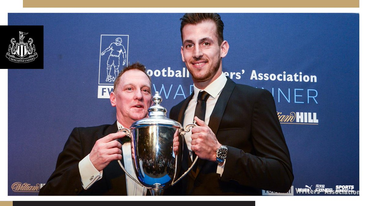 You can read more about the star-studded ceremony, which took place at @Ramside_Hall last night, here: https://www.nufc.co.uk/news/latest-news/dubravka-receives-north-east-football-writers-association-player-of-the-year-award … #NUFC