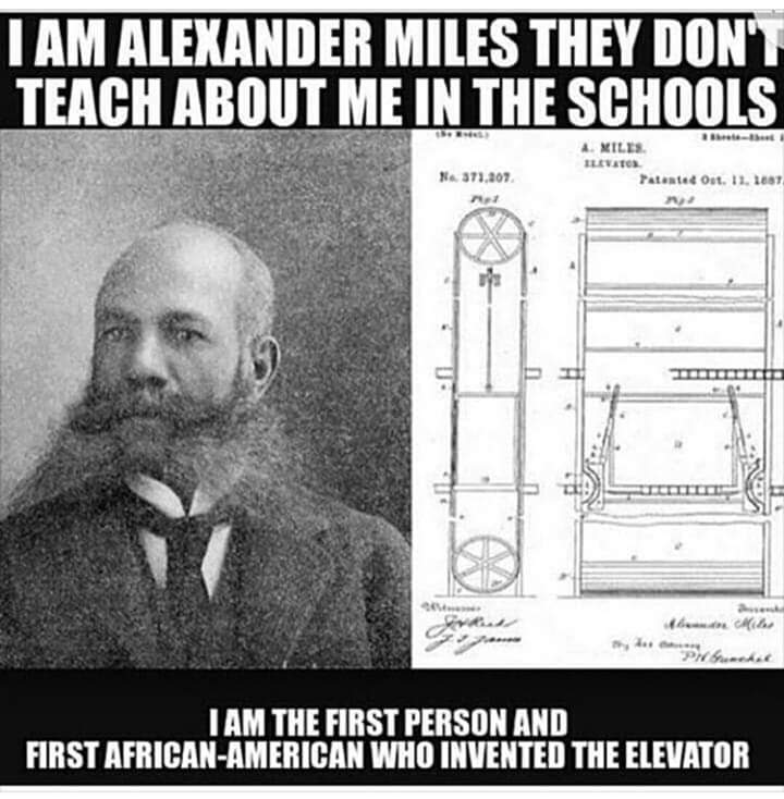 Morning beautiful people. Just a reminder of some of our historic achievements. #elevator #education #BlackHistory