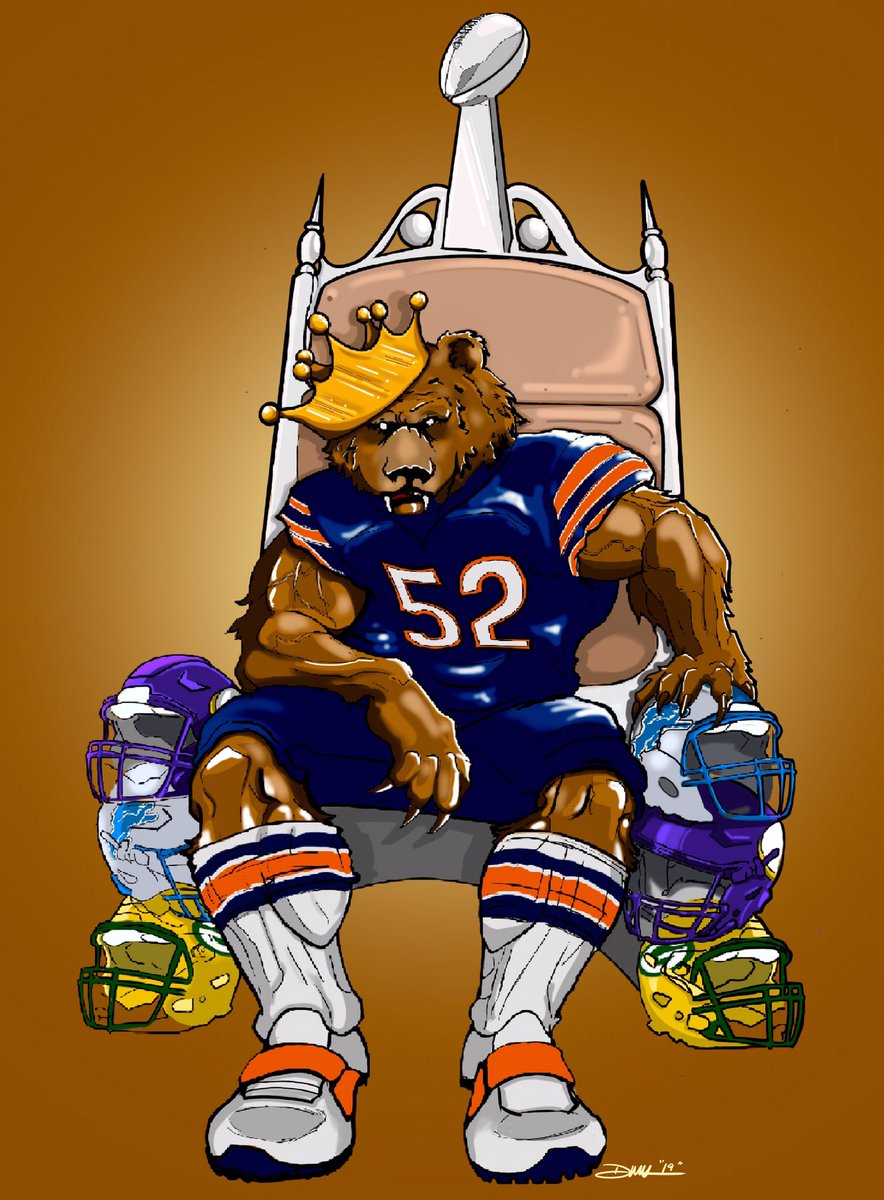 #bears #chicagobears #art #nfcnorthchamps #mackattack #kingofthenorth @chicagobears #superbowl #digitalart #procreate #applepencil #ipadpro #greenbay #minnesota #detroit