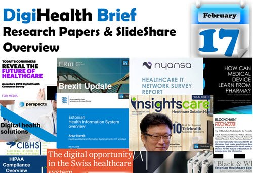 #MedGizmo Weekly Overview of #Research Papers & #SlideShare - #DigitalHealth #Technologies & #Wearables for February 17, 2109 http://bit.ly/2BHqmka #HealthTech #Research #Researchpaper #HealthResearch