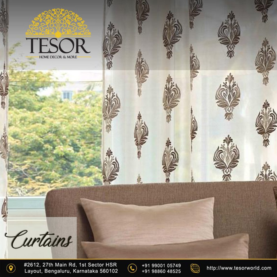 Our range of Window curtains will blend well with your room's interiors. Visit Our Website: http://www.tesorworld.com #decor #curtains #home #homedecor #interior #interiordesigns #creative #fineart #design #art #artwork #abstract #style #TESOR