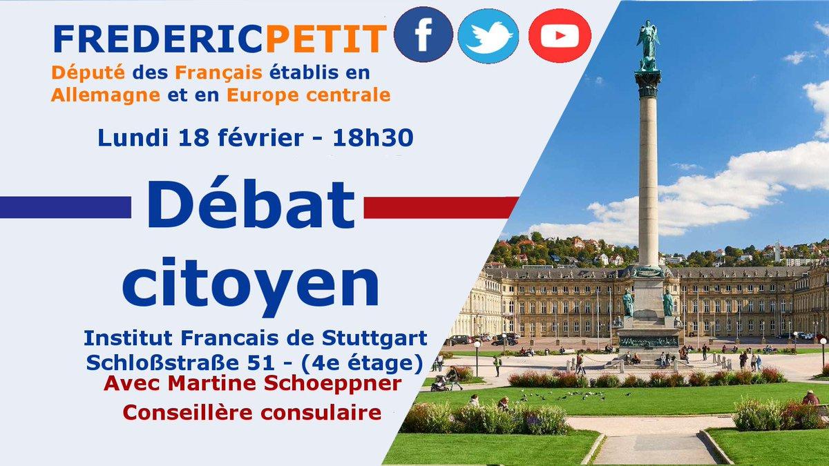 Je suis en route pour #Stuttgart. Je vous y retrouve pour une nouvelle réunion du #GrandDebatNational ce soir à l'Institut français.   Vous n'êtes pas encore inscrits ? Venez nous rejoindre -> https://en.xing-events.com/NCWWACG.html