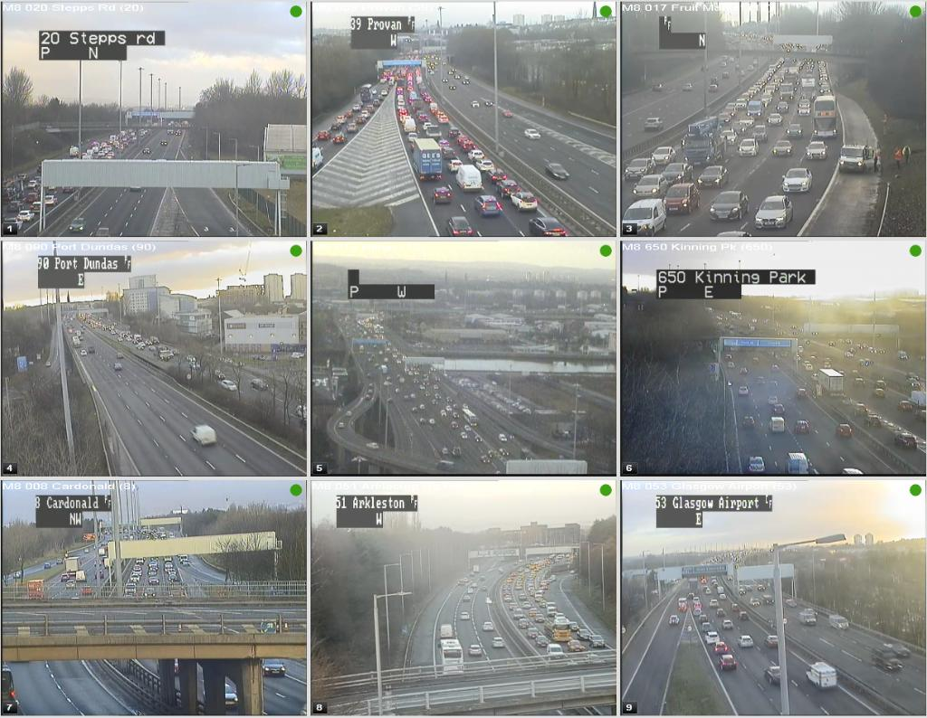 test Twitter Media - #M8 congestion around #Glasgow @ 08:17⌚  W/B J11 Stepps - J19 Anderston  E/B J28 @GLA_Airport - J25 Cardonald & J22 Plantation - J20 Kingston Bridge 🚗  @ScotTranserv https://t.co/WQnOtiMY7V