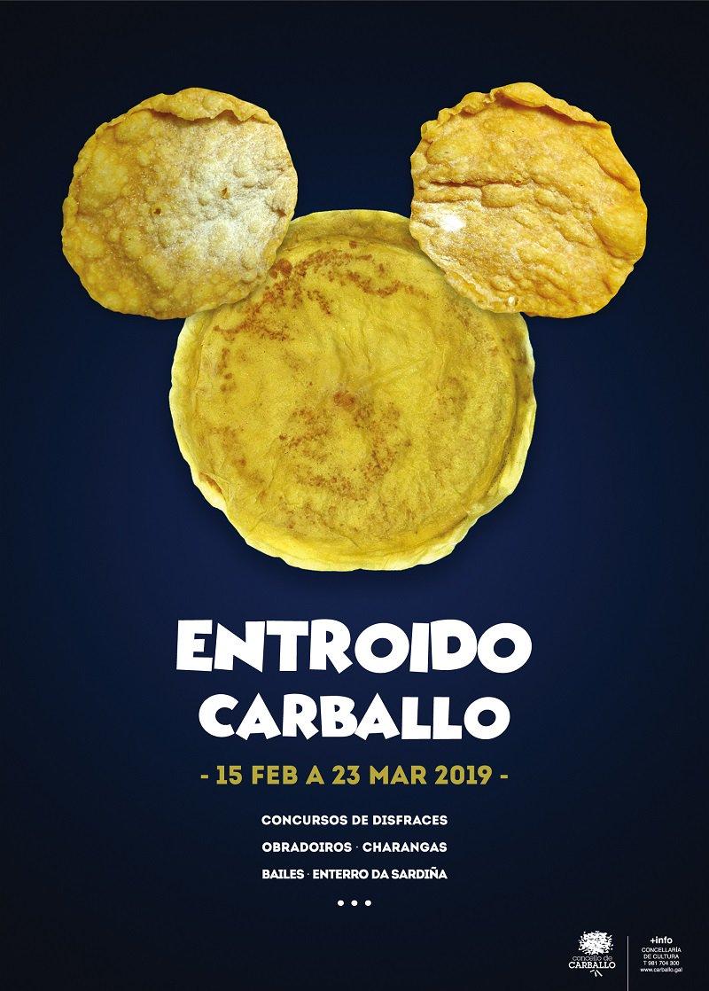 Feliz luns! Orellas, filloas e Mickey Mouse... Que máis queremos para pasalo ben no Entroido? Vale, igual un cocido, pero para todo o demáis aquí tendes o programa de actividades! Con 8.500€ en premios! ⤵️ 🤡 http://bit.ly/Entroido2019 [PDF] #Entroido #Carballo #turismo #FelizLunes