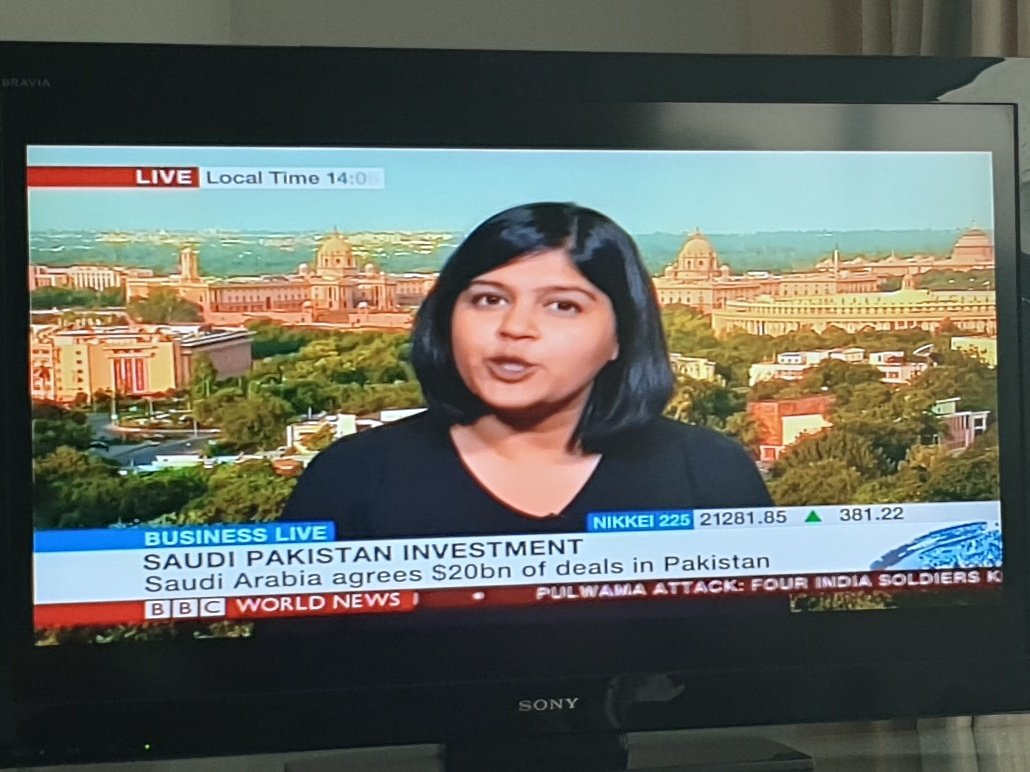 I love that Devina Gupta in Delhi is linked in by the #BBC to discuss #Saudi investment in Pakistan was there no biz journo available in Islamabad to discuss.