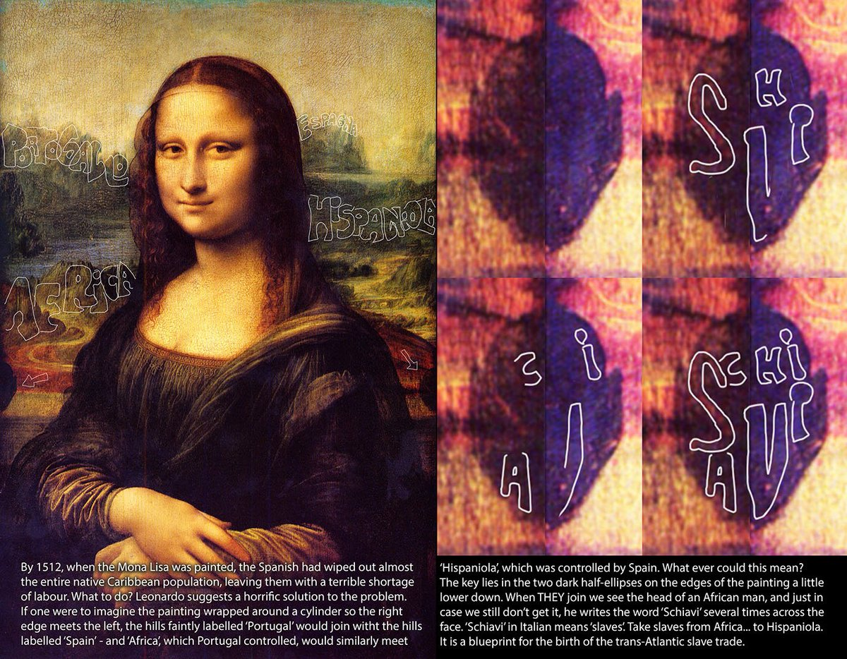 BEHIND THAT PRETTY SMILE lies a secret so awful, it is hard to believe. Quietly, in the background of the Mona Lisa, Leonardo is planning the greatest crime in history. It is there for all to read - click the link: https://amzn.to/2MgGtaK  #BlackHistory