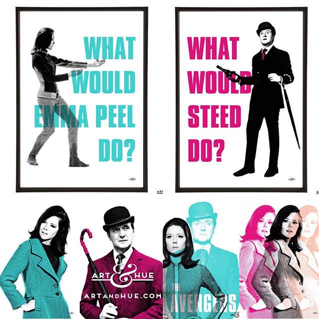 What Would The Avengers Do?  #MondayMotivation   http://artandhue.com/theavengers   #PatrickMacnee #DianaRigg #MrsPeel #JohnSteed #EmmaPeel #MotivationMonday #TheAvengers #ChapeauMelonEtBottesDeBuir #DameDianaRigg #MadeAtElstree #MrsPeelWereNeeded #CultTV