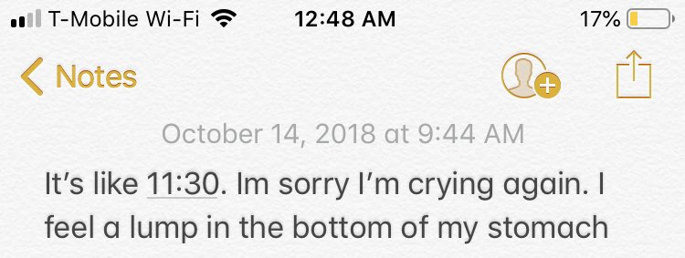 The notes app is such a weird and dark place on my phone. Like it's two moods, never anything in between.