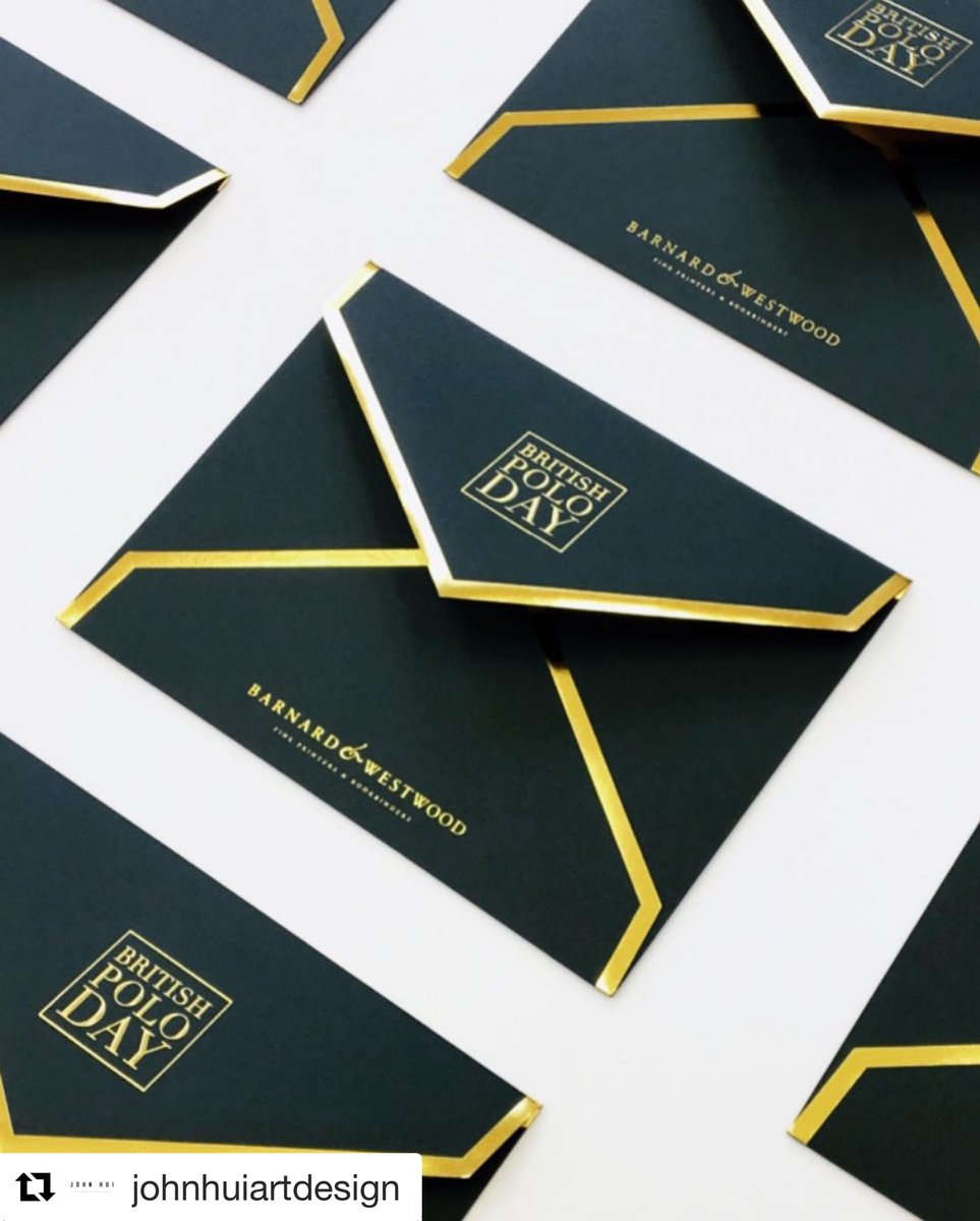 Loving the new 2019 @Britishpoloday envelopes!!! A combination of foiling and embossing onto @GFSmithpapers @colorplanpapers #racinggreen  . . . #envelopes #printing #bespoke #foiling #foilblocked #madetoorder #custom #paper #stationery #print https://t.co/1yK5Aanhaj