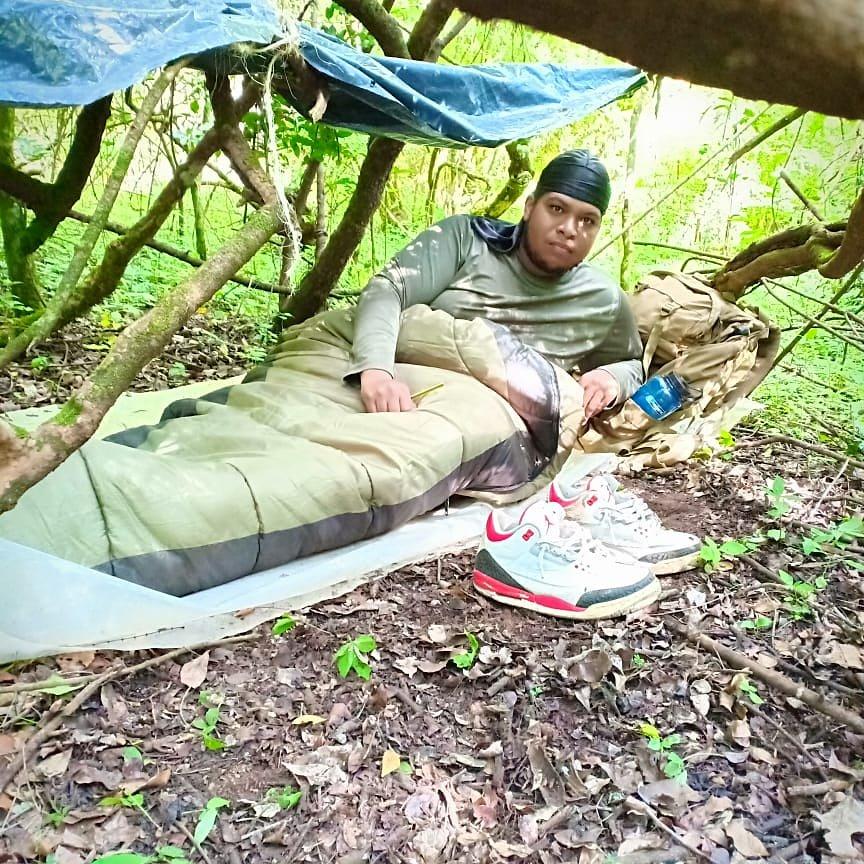 #Nike #AirJordan #Maasai #Forest Larry from #Brooklyn #NewYork training for #Kilimanjaro #climb as part of #KIUSA #KIClimb2019