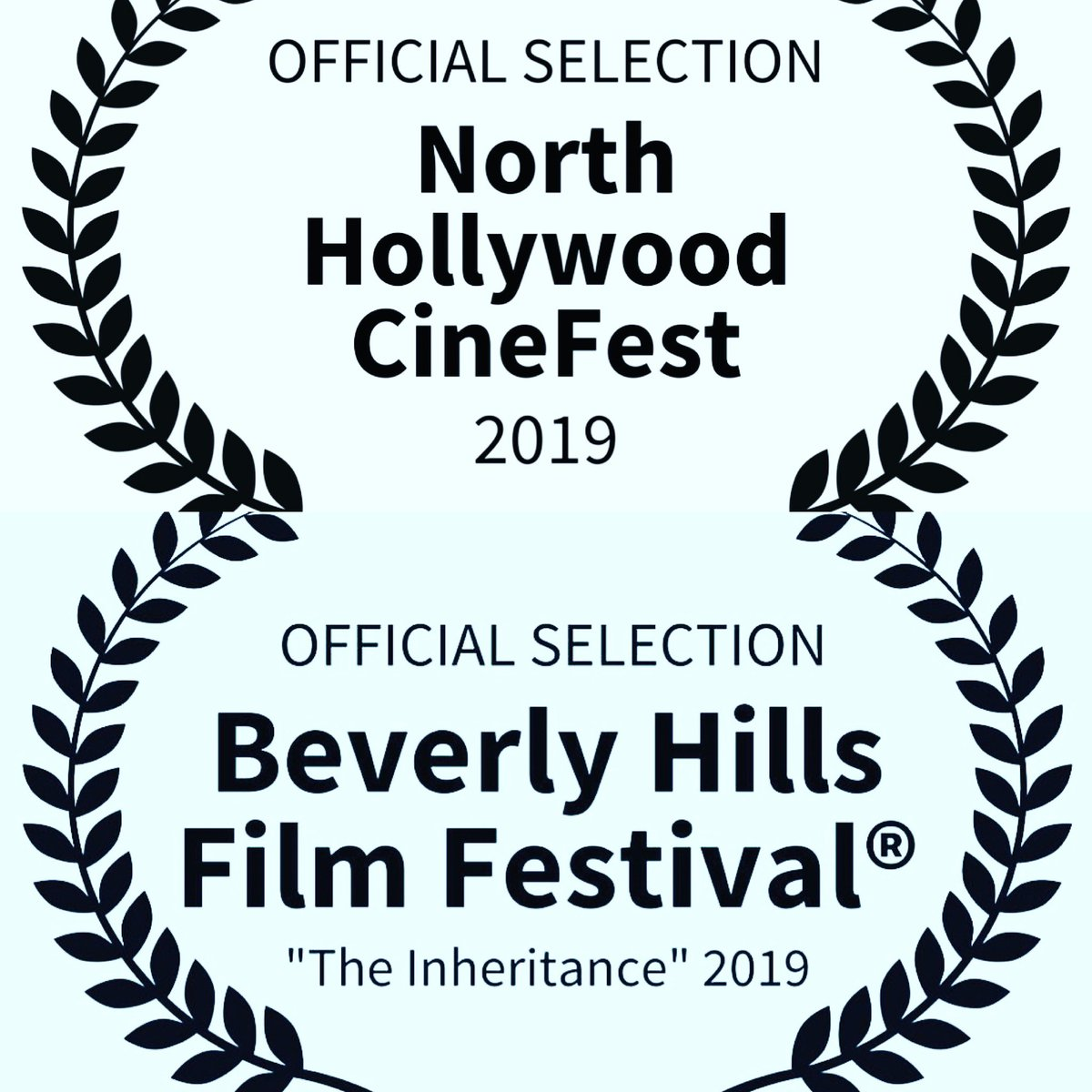 Cannot express how happy I am that my first ever film 'the inheritance' is now selected for two Hollywood film festivals. To be nominated like this is more than a dream come true. Thank you to @jhickox @JTS7767    a@DerrickCohann@yaarad@Caitlinalyn the rest of the team. Wow