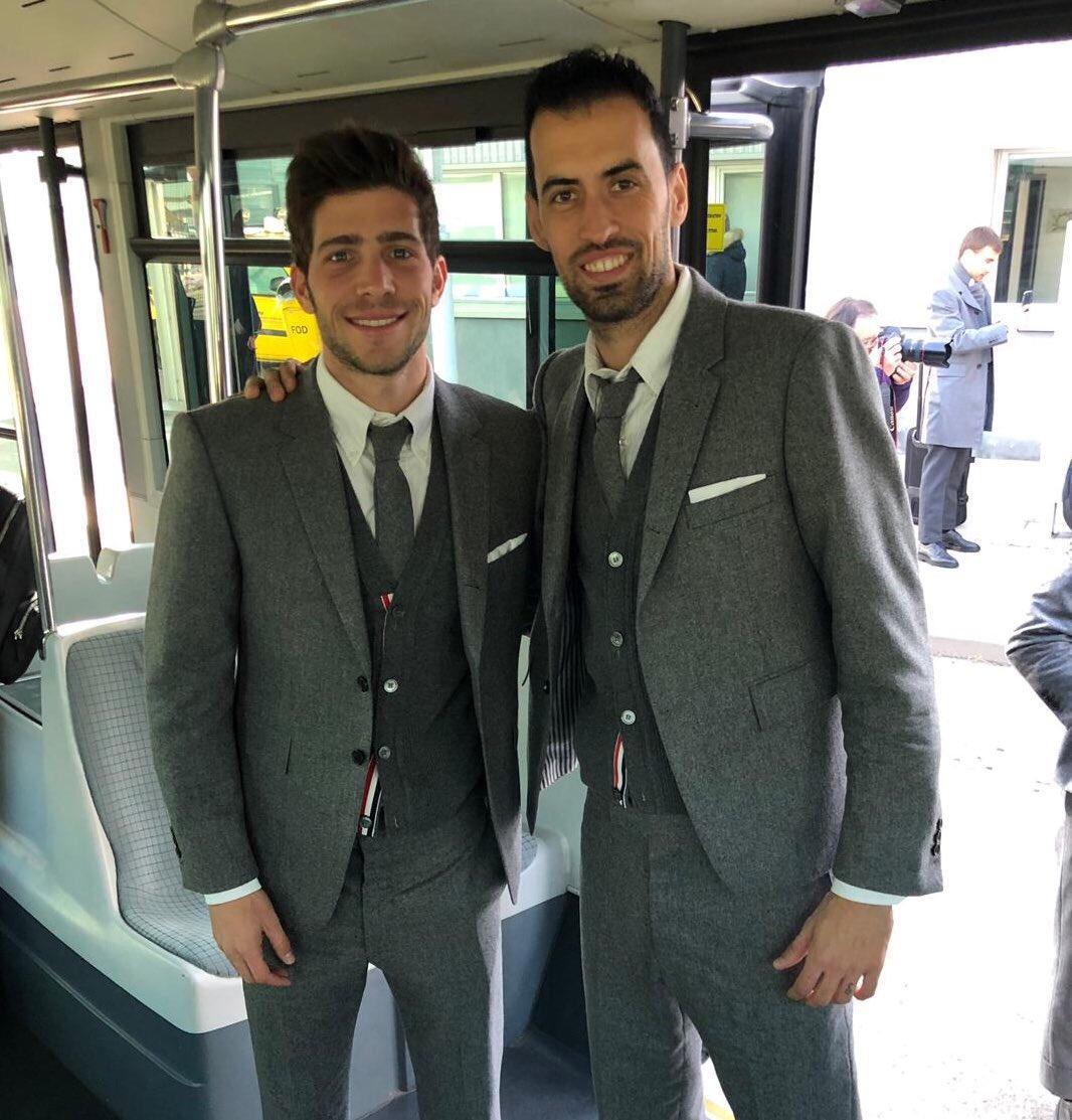 Rumbo a Lyon en modo Champions!! 💪💪✈️ @SergiRoberto10