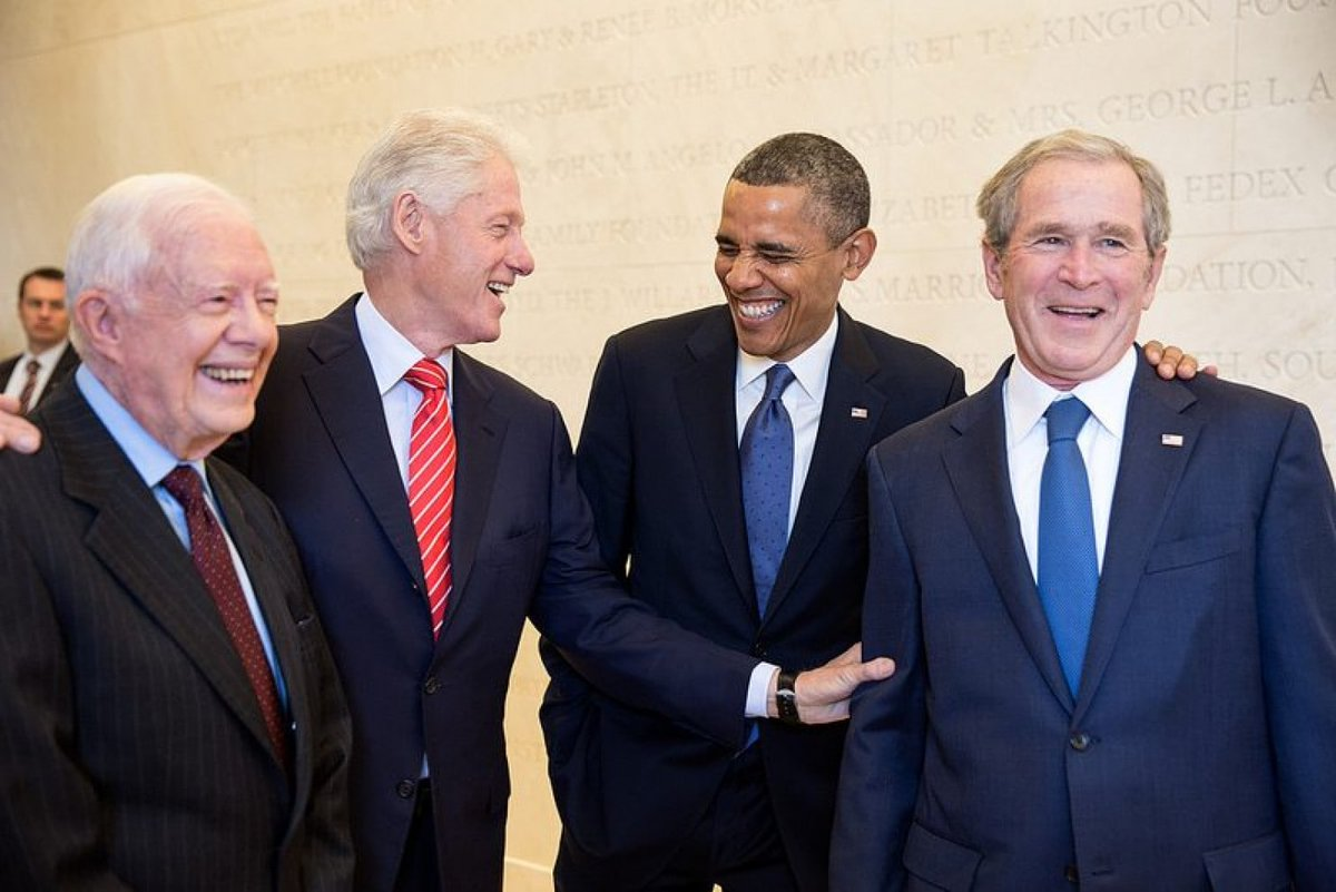 """I thought it would be nice to recognize and wish all the living """"real presidents"""" a                                           Happy Presidents Day"""