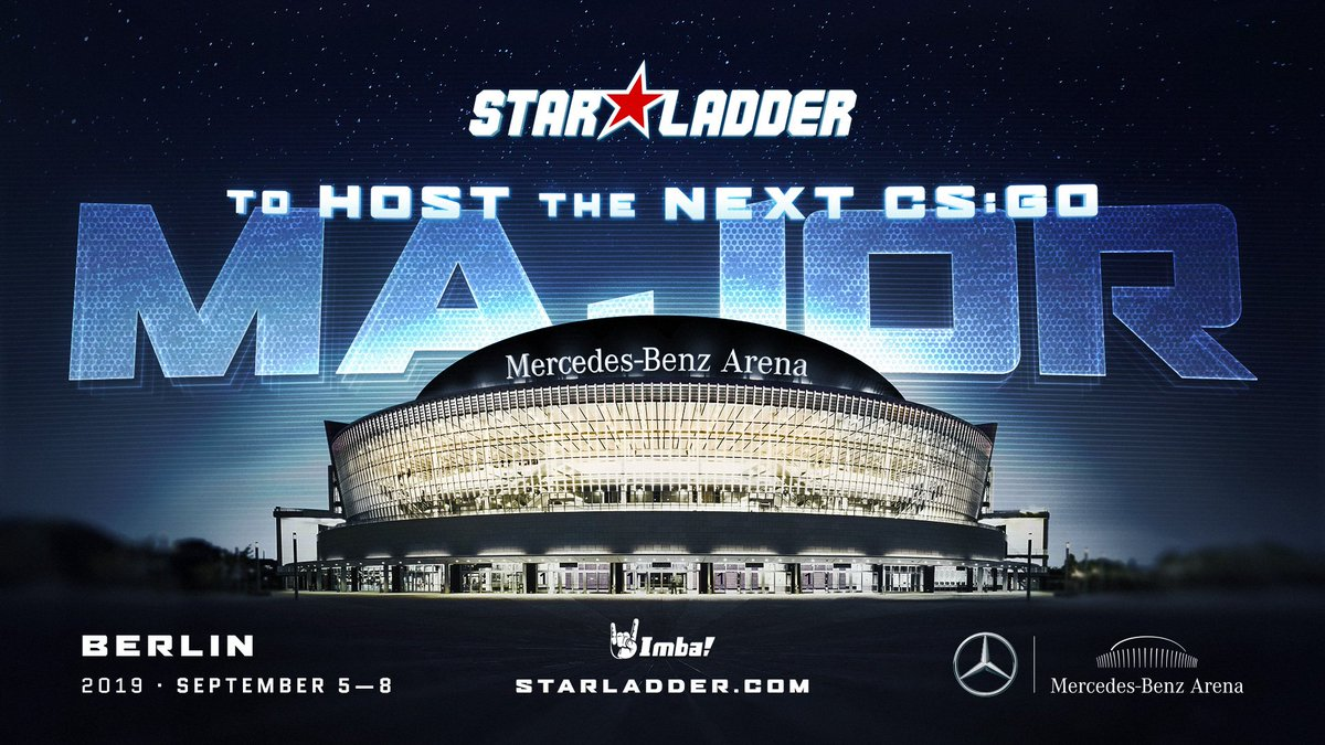 We are pleased to inform all fans of the game that we are honored to host the fifteenth Major tournament in CS:GO! #csgo #StarLadder #SLBerlinMajor  The main event will take place from 5th to 8th September 2019 at the Mercedes-Benz Arena.  Read more: https://starladder.com/en/news/starladder-to-host-the-next-cs-go-major…