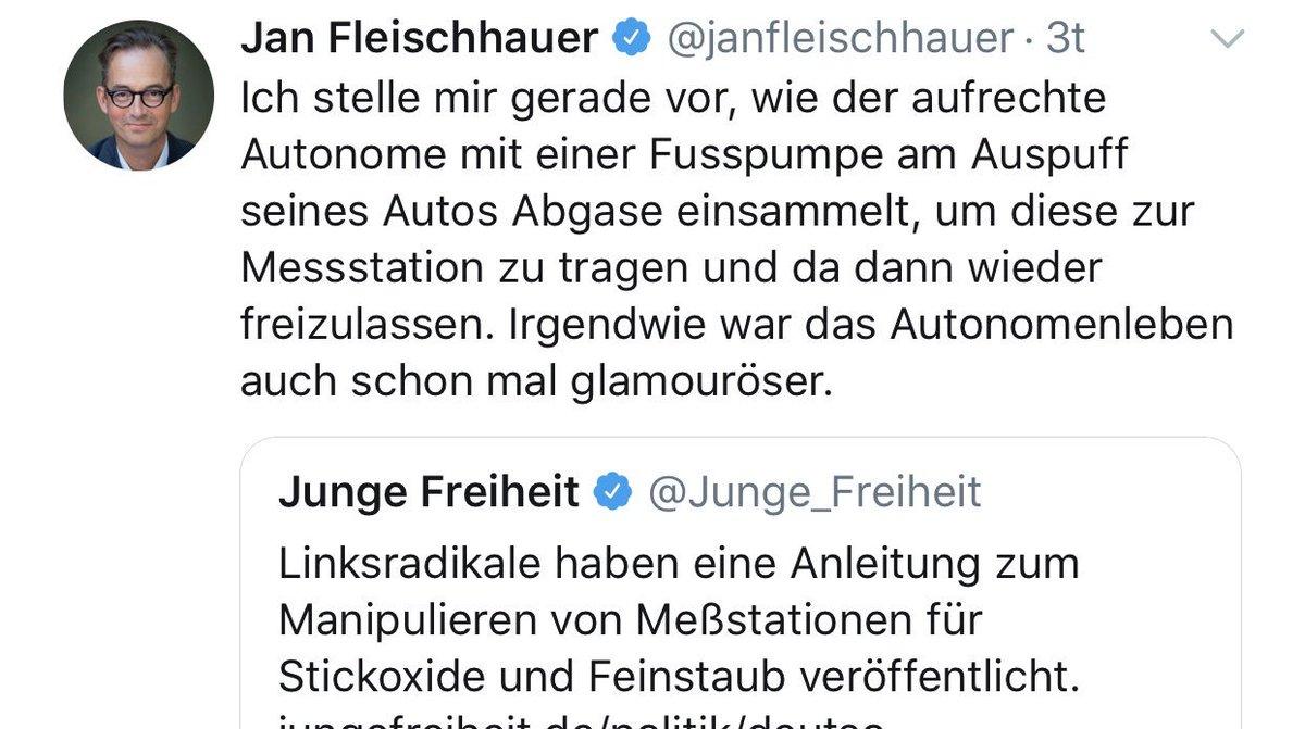 Unvorstellbar! @janfleischhauer freut sich, endlich einmal die 'Junge Freiheit' teilen zu können: