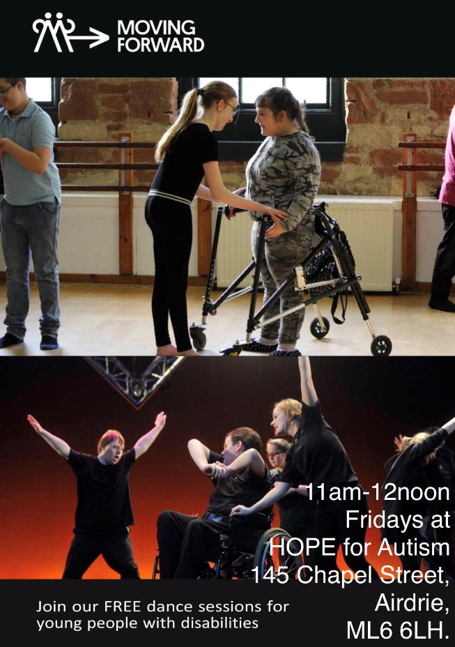 Brilliant dancing opportunity in Airdrie for young adults with disabilities! #Inclusion #Dance
