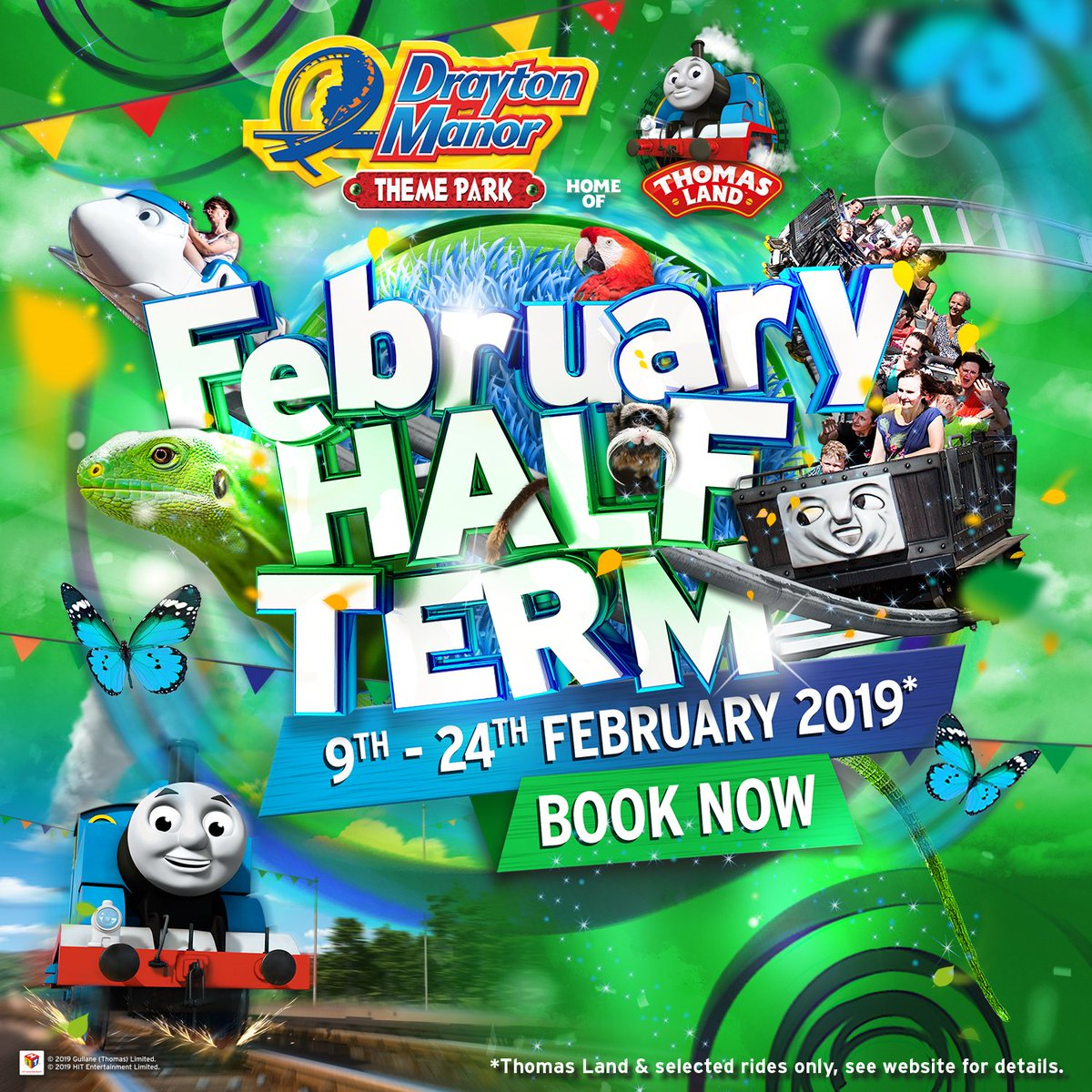 Looking for family fun this February Half Term? Why not bring your little one to meet Thomas & Friends at Europe's only Thomas Land and discover our fascinating 15-acre zoo? Book now http://socsi.in/J7pZH