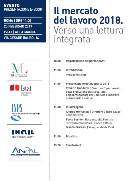 #25febbraio presso Aula Magna #istat verrà presentato il rapporto #MercatodelLavoro.  Per iscriversi inviare un'email a eventi@istat.it https://t.co/9qcJBL5raw