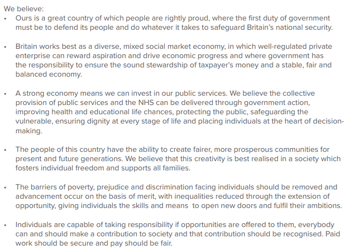 And the group's statement of values (1/2)