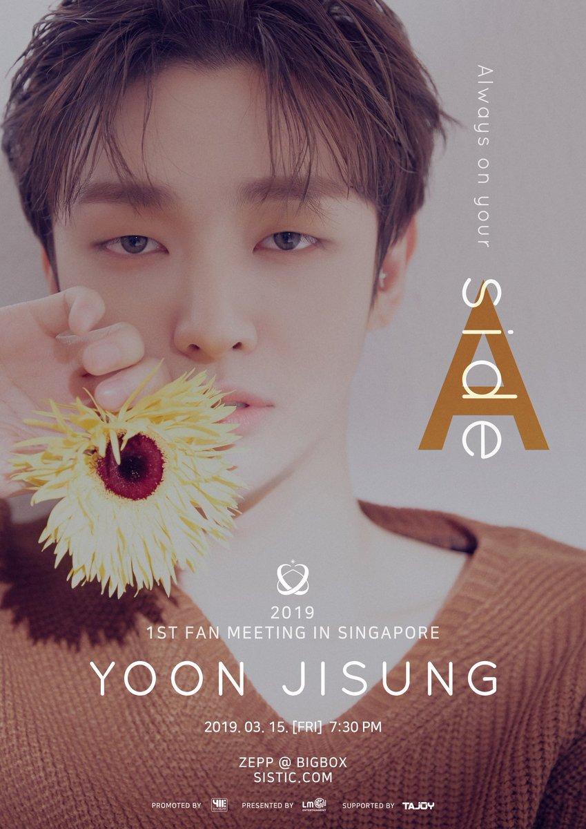 Your wish is our command! ALL HI-TOUCH! Please see the details for prices, seating and all the special privileges for the 2019 YOON JISUNG 1st FAN MEETING: Aside in SINGAPORE Friday the 15th of March, 2019 at ZEPP @ BIGBOX Tickets price S$260 / S$217 / S$196 / S$152 / S$122