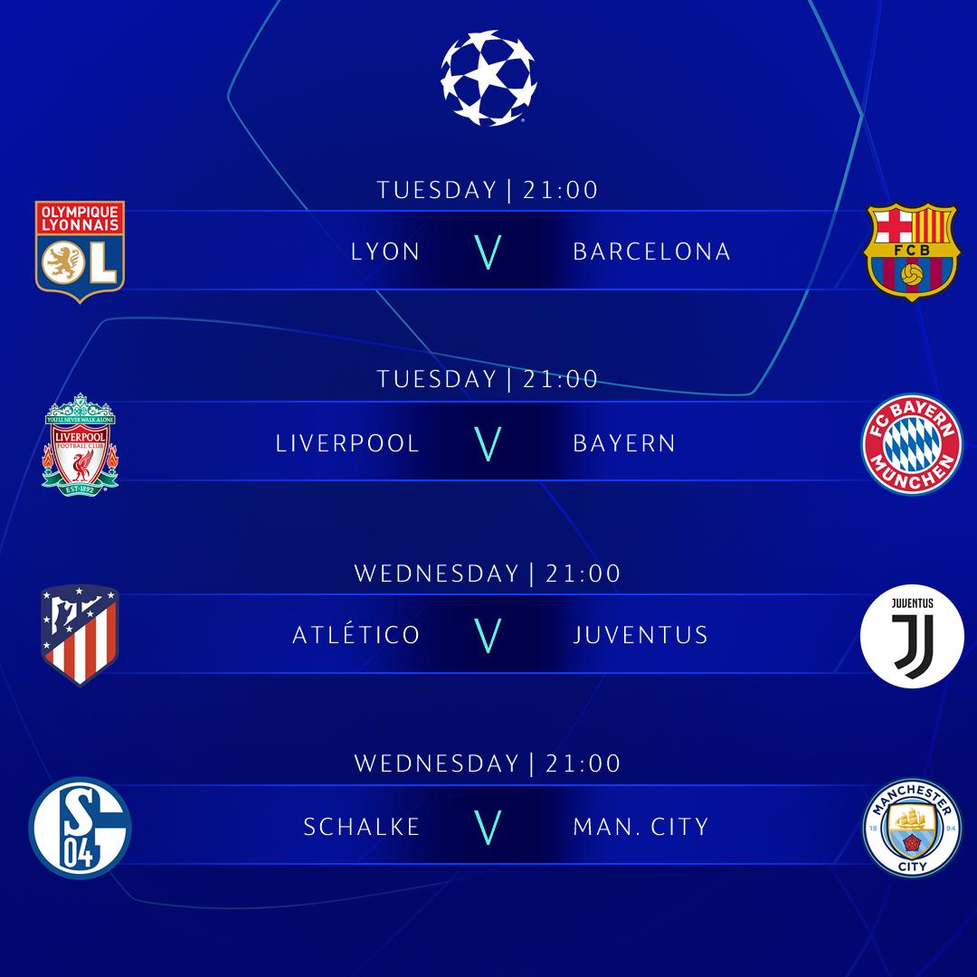 The round of 16 continues this week! 🙌  Who are you backing? 🤔  #UCL