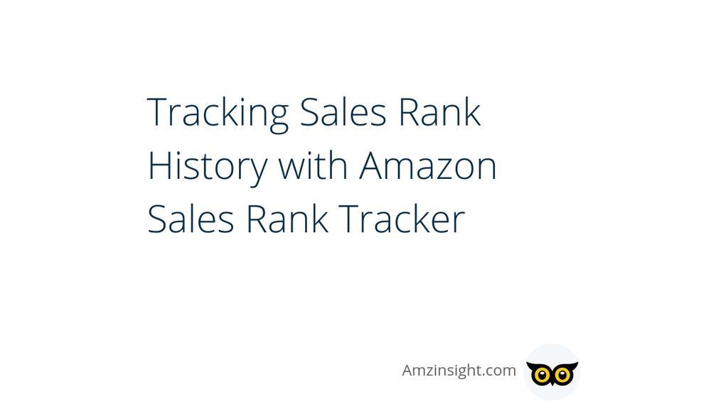 amazon sales rank tracker