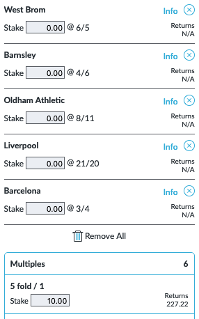 ⚽️TODAYS ACCA ⚽️  ACCA HERE ➡http://bit.ly/2Ei26Xz  Paying 21/1 👍  GET £30 IN FREE BETS WHEN YOU STAKE £5 ➡️ http://bit.ly/bet5-get30  #ACCA #bettingtips #LFC #Barca #football