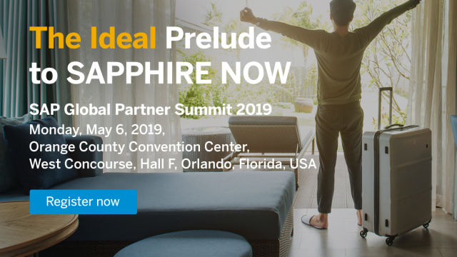 Traveling to #SAPPHIRENOW? Arrive a day early for SAP Global #SAPPartner Summit on May 6! This event provides a day dedicated to all partners. The ideal prelude to your SAPPHIRE NOW experience.  http:// bit.ly/2BEA5Yi  &nbsp;  <br>http://pic.twitter.com/1BnR7RdQiv