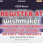 Image for the Tweet beginning: Register at Wishmaker Online Casino