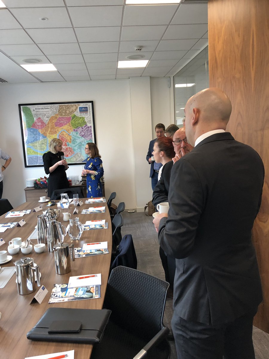 We're hosting @insiderswest at @Colliers today to discuss the Bristol commercial property market, supply and demand and what that means for all parts of the chain. Looking forward to a great event. #bristol #roundtable #commercialproperty #developmentfinance #investmentfinance