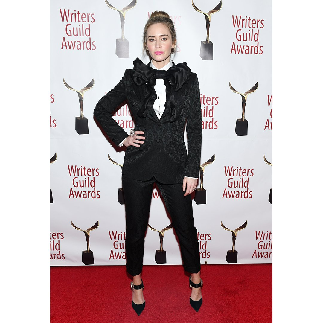 Emily Blunt wears Dolce&Gabbana at the 71st Annual Writers Guild Awards in New York.  #DGWomen #DGCelebs