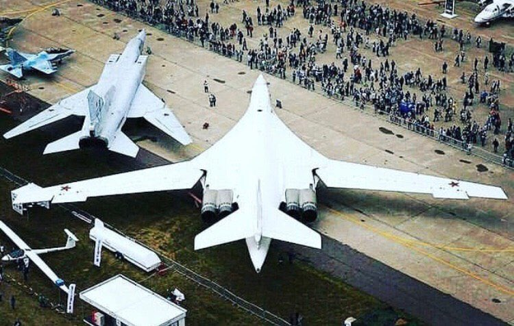 Nice photo for comparing the size of the Tu-160, Tu-22M3, and Yak-130.  https://t.me/infantmilitario