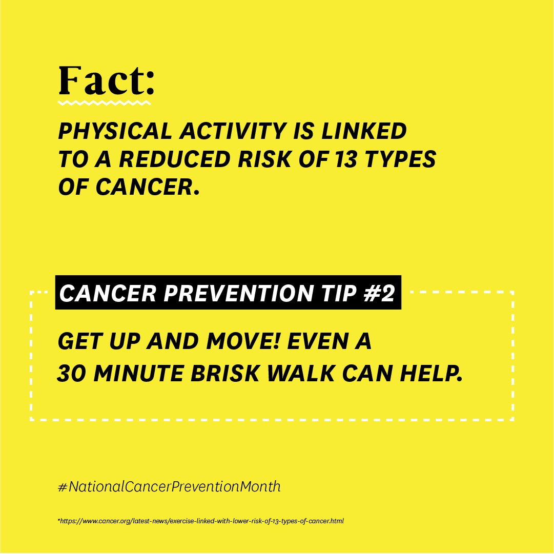 Step 1: Read this tip. 👀 Step 2: Step away from the screen and take a walk! 🚶♀️  #nationalcancerpreventionmonth #omaze